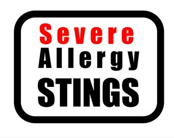 Medical Patch - SEVERE ALLERGY STINGS - Embroidered