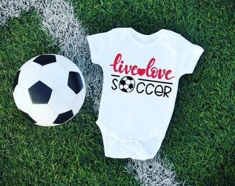 Soccer Love baby bodysuit