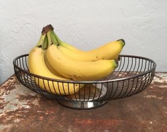 Silver Fruit Basket mid Century