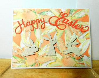Happy Easter with 3 bunnies