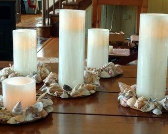 Sea Shell Candle Rings