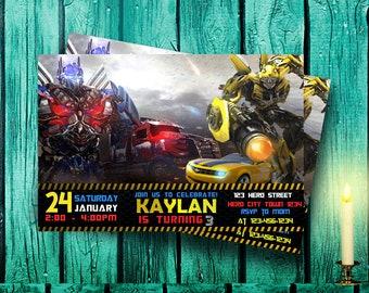 Transformer Invitation,Transformer Birthday,Transformer Party,Transformer Birthday Party,Transformer Birthday Invitation,Transformer-F0146