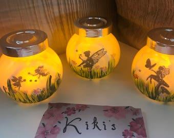 Handpainted Worry Fairy jar