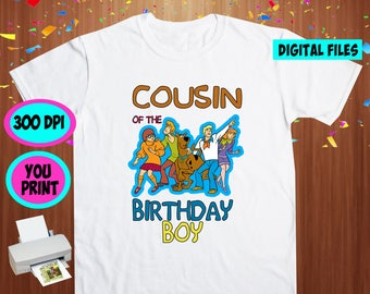 Scooby Doo. Iron On Transfer. Scooby Doo Printable DIY Transfer. Scooby Doo Cousin Shirt DIY. Instant Download. Digital Files Only.
