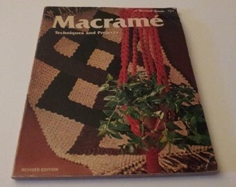 Macrame Techniques and Projects A Sunset Hobby and Craft Book, Vintage 1975