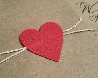 Romantic Rustic Wedding Invitation with Heart