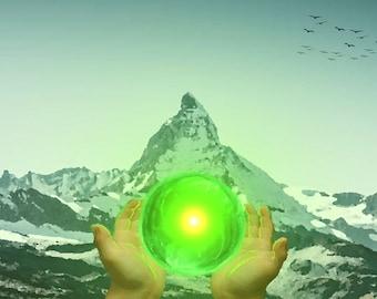 Green globe of life-Digital art
