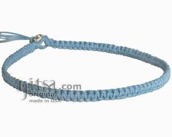 Sky Blue Hemp Surfer Choker Necklace