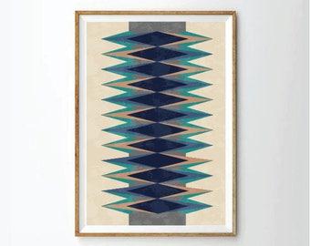 mid century style, art print, geometric poster