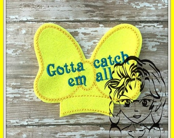 BOW POKE GAME Center (Add On ~ 1 Pc) Mr Ms Mouse Ears Headband ~ In the Hoop ~ Downloadable DiGiTaL Machine Embroidery Design by Carrie
