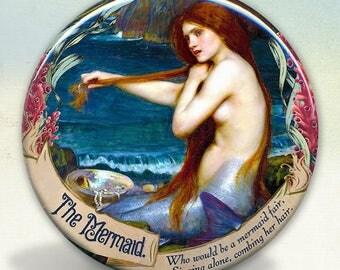A Mermaid Fair pocket mirror tartx