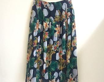 Vintage pleaded floral skirt