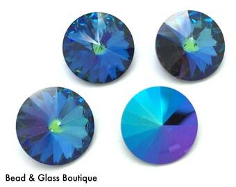 Swarovski Crystal Rivoli #1122, 12mm, 4 pieces, Heliotrope