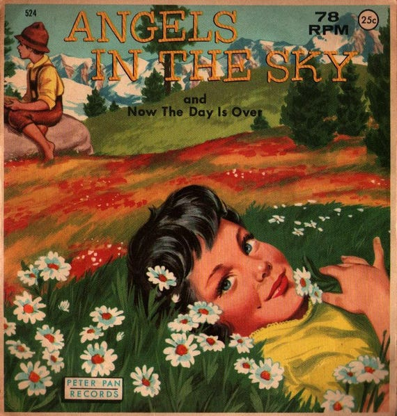 Angels in the Sky / Now the Day is Over - Peter Pan Records - 1959 - Vintage Record