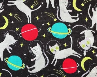 """NEW! """"Totally Totable"""" Weighted Lap Blanket - Adult or Child - Space Cats - Choose your weight and minky color"""