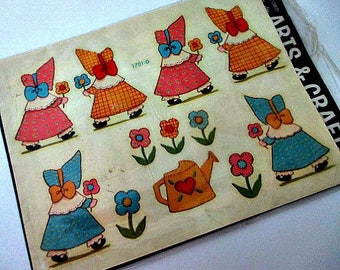 Sunbonnet Girl Vintage Decals - Vintage Supply