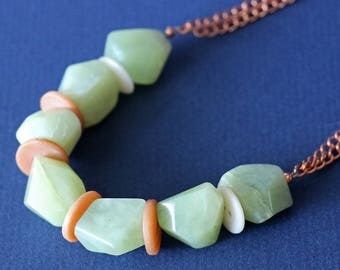 Seagreen New Jade Copper Necklace