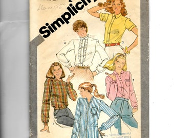 Simplicity Young Junior/Teens' Set of Shirts Pattern 5208