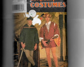 Simplicity Men's or Teen Boys Costumes Pattern 7761