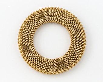 36mm Matte Gold Textured Ring Link #MFA176