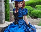 Gothic Wedding Dress | Sapphire Splendor | Steampunk Wedding Dress, Victorian Ball Gown, Ballgown Wedding Dress,  Civil War Dress