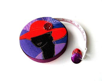 Measuring Tape Purple and Red Hat Ladies Retractable Tape Measure