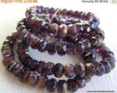 20% Clearance SALE 30 3x5mm Milky Amethyst Picasso Rondelle - Czech Glass Beads (G - 179)
