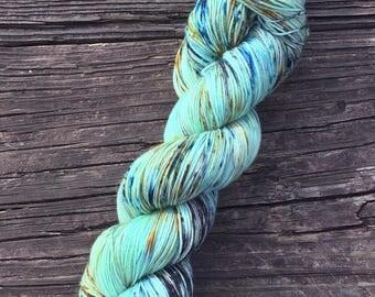 DayDreaming - 75/25 SW Merino, Nylon - Sock Yarn - Fingering Yarn - Speckled Yarn - Lagniappe Sock -Dyed To Order