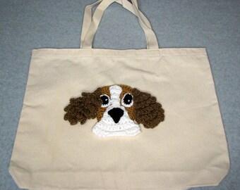 Cocker Spainel Canvas Tote - Dog Tote Bag- Pet Lovers Bag - Custom Tote Bag - Dog Lover Gift - Dog Moms Gift -