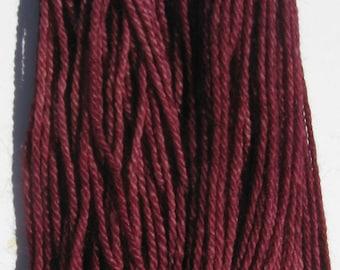 Baby Alpaca Yarn, Burgundy Yarn, Worsted Weight - 549 yards - Yarn to Knit, Crochet, Weave, or Felt