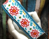 Wristlet Key Chain Key Fob Country Florals