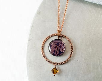 Circuit Board Necklace Copper, Wearable Technology, Circuit Board Jewelry, Motherboard Engineering Gift for Her, Tech Gift for Her, Geekery