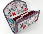 COUPON / EXPENSE / RECEIPT Organizer - Purple Floral - Coupon Organizer Coupon Holder Cash Budget