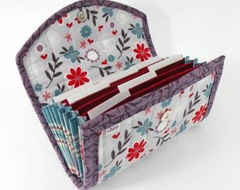 COUPON / EXPENSE / RECEIPT Organizer - Purple Floral - Coupon Organizer Coupon Holder Cash Budget