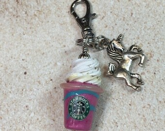 Miniature Unicorn Frappuccino Charm from My Bead Garden