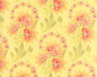 Hazel and Plum - Harvest Bouquet in Sunset Yellow: sku 20290-14 cotton quilting fabric by Fig Tree and Co. for Moda Fabrics