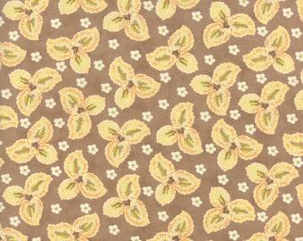Hazel and Plum - Autumn Leaves in Harvest Tan: sku 20292-13 cotton quilting fabric by Fig Tree and Co. for Moda Fabrics