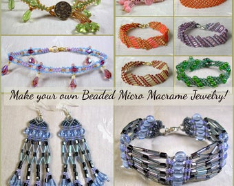 TUTORIALS - Beaded Micro Macrame Jewelry - Beginners Collection