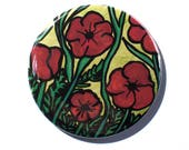 Poppy Flower Pin - Poppie...