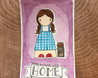 PegBuddies Postcard- Wizard of Oz, Dorothy, No Place like Home