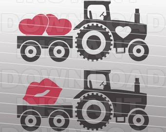 Valentines SVG,Farm Tractor SVG File Cutting Template-Vector Clip Art for Commercial & Personal Use-Download-Cricut,Cameo,Silhouette,Decal