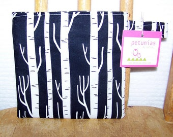 Reusable Little Snack Bag - pouch adults kids birch trees eco friendly by PETUNIAS