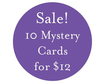 SALE! 10 Discontinued or Slightly Imperfect Mystery Cards for 12