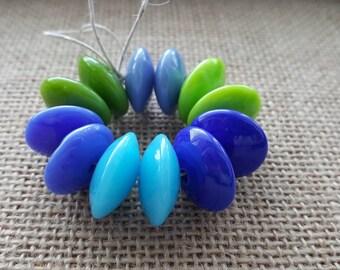 Handmade Lampwork Beads by SweetpeasGlassDesign - Sea Jewels- Rich Colours