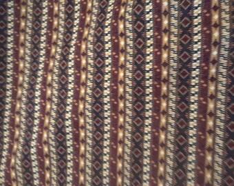 Retro Heavyweight Boho Aztec Knit Fabric 2.75 yards
