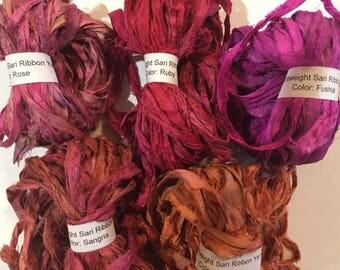 Lightweight Sari Ribbon Yarn (10 yards)
