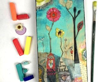 You and Me - Original Encaustic Painting
