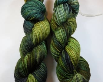 SALE 20 Percent Off -- Hand Dyed Superwash Merino Worsted Yarn -- Lichen