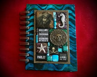 Pirates of the Caribbean A6 Journal - Mixed Media Mosaic