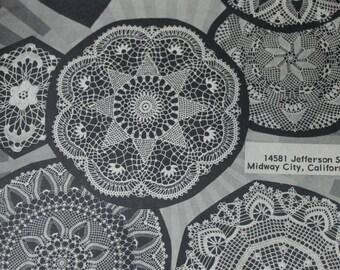 Doily Crochet Patterns Beaded Doilies Vintage Paper Original NOT a PDF